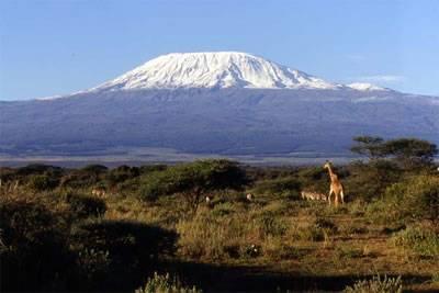Mount Kilimanjaro with 11,000 year old snowcap